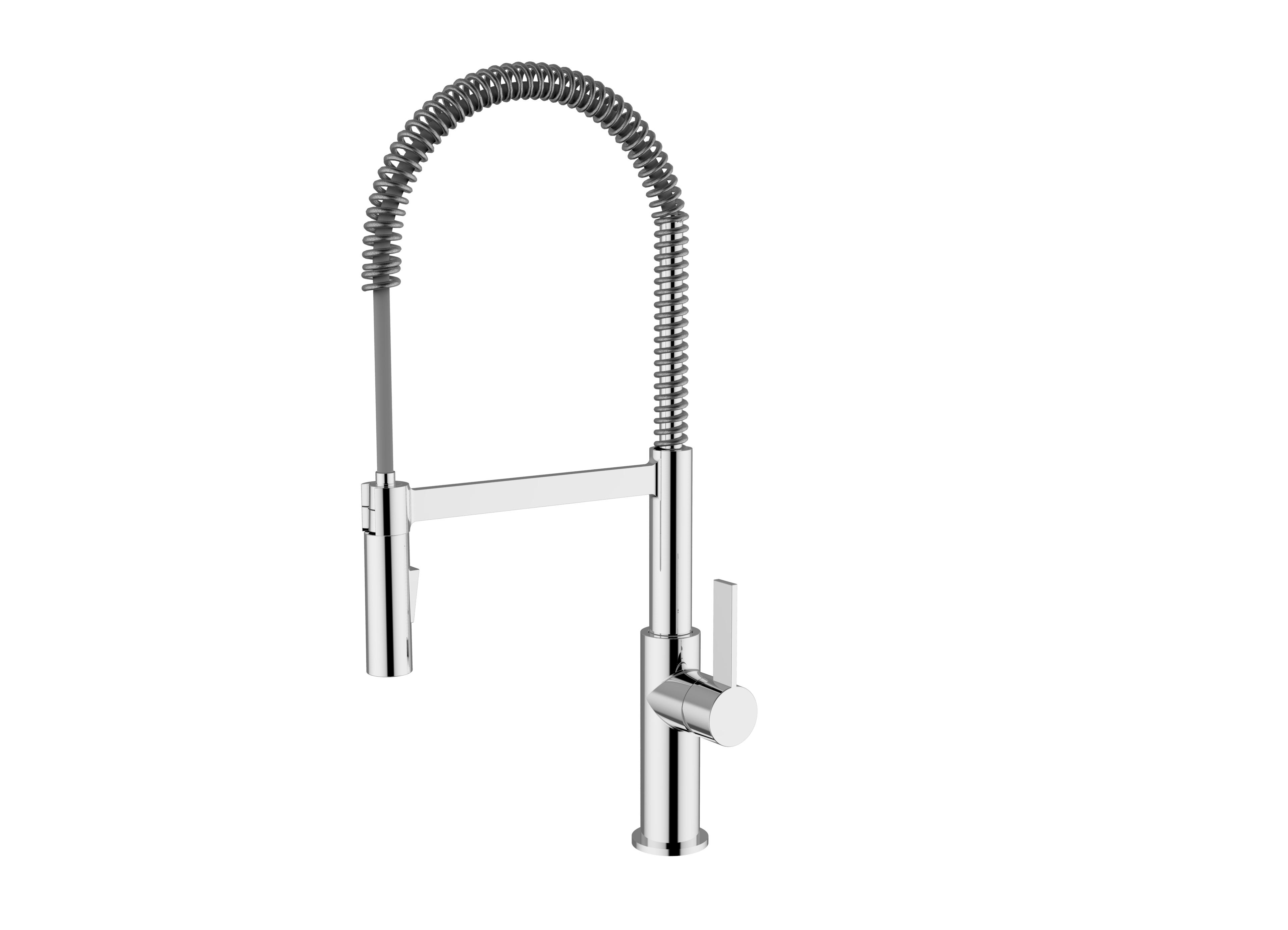Immagine HD Miscelatore lavello con MOLLA e doccia orientabile