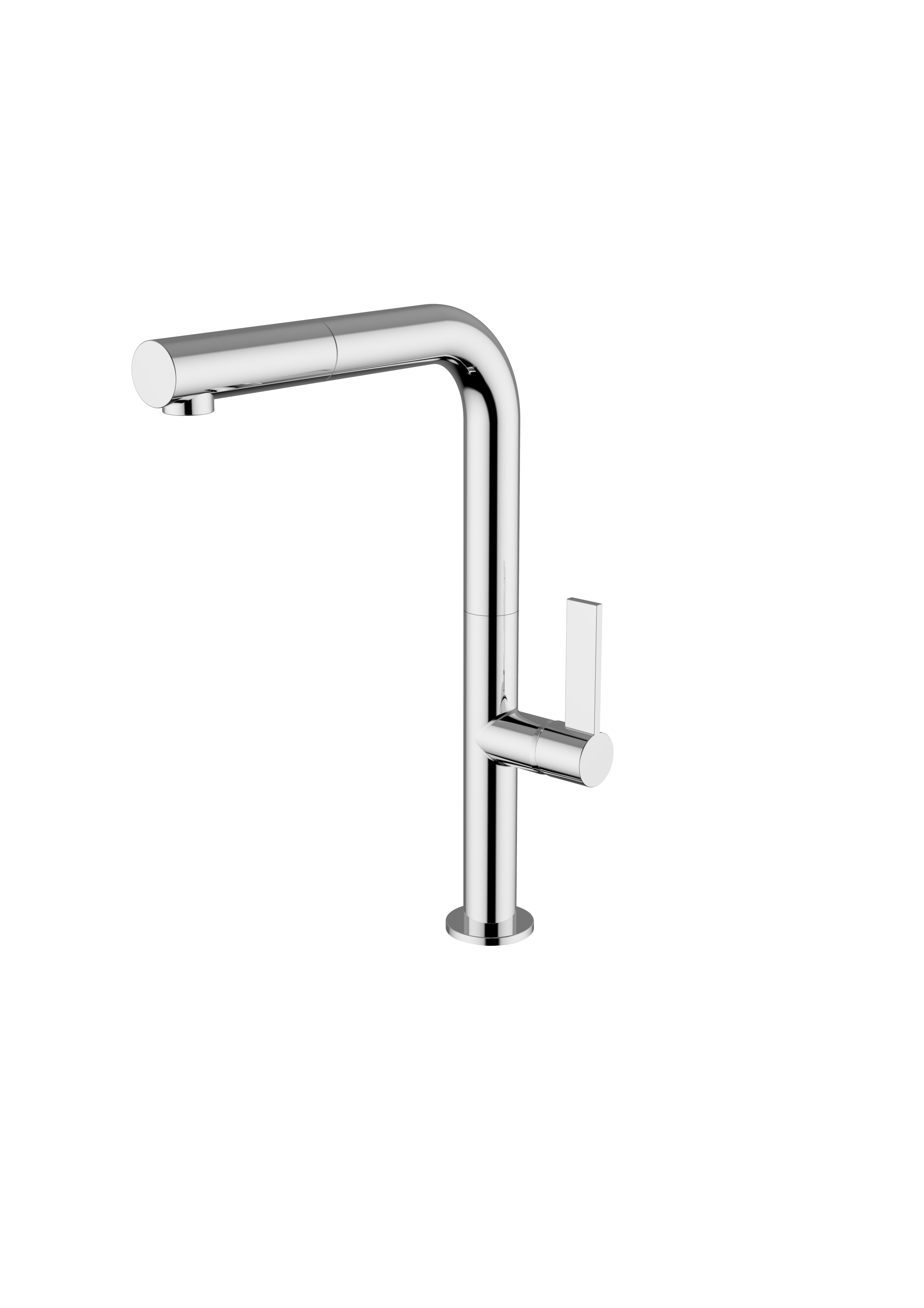 Immagine HD Miscelatore lavello con doccia estraibile pull-out, canna L